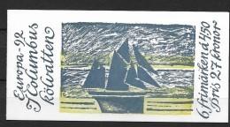 1992 MNH Cept Sweden Booklet - Europa-CEPT