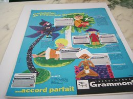 ANCIENNE PUBLICITE TRANSISTORS GRAMMONT   1964 - Radio & TSF