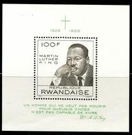 DA1391 Rwanda 1968 Human Rights Activist Martin Luther King Engraving Edition M MNH - Rwanda
