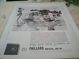 ANCIENNE  PUBLICITE CAMERA 8MM PAILLARD BOLEX   1964 - Autres