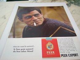 ANCIENNE PUBLICITE  NOUVEL AROME CIGARETTE PEER EXPORT 1964 - Tabac (objets Liés)