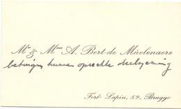 Visitekaartje - Carte Visite - Mr & Mme A. Bert - De Müelenaere - Brugge - Cartes De Visite