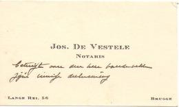 Visitekaartje - Carte Visite - Notaris Jos. De Vestele - Brugge - Cartoncini Da Visita