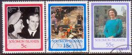 SOLOMON ISLANDS 1986 SG #562//65 Part Set 3 Stamps Of 5 Used 60th Birthday Of Queen Elizabeth II - Solomon Islands (1978-...)