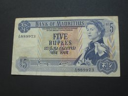 5 Five  Rupees 1967 - ILE MAURICE - Bank Of Mauritius  **** EN ACHAT IMMEDIAT ***** - Maurice