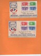2 Enveloppes 1er Jour FDC Condominium  Franco-anglais 50e Anniversaire 1956 Voiliers, - English Legend