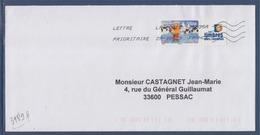 = Meilleurs Voeux Pour 2007 Personnalisé 3989A Seul Sur Lettre 29.09.09 Type Gommé Vignette Les Timbres Personnalisés - Frankreich