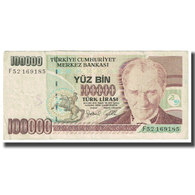 Billet, Turquie, 100,000 Lira, 1970, 1970-10-14, KM:206, TB - Turquie