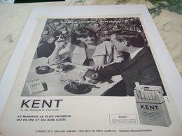 ANCIENNE PUBLICITE CIGARETTE KENT 1964 - Tabac (objets Liés)