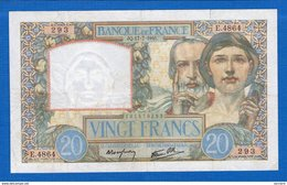20  Fr  Du  17/7 1941  D'echirure  Sur  Le  Blanc  A  1 Heure 4  Mm - 1871-1952 Anciens Francs Circulés Au XXème