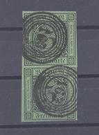 Baden Mi.Nr. 6, 3 Kreuzer Freimarke Als Paar Mit Nummernstempel 163 (28247) - Baden