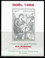 DA1418 Rwanda 1989 Rubens Painting Engraving Edition S/S MNH - Rwanda