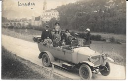 65 - LOURDES - CARTE PHOTO écrite En 1925 - Voyageurs - - Lourdes