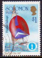 SOLOMON ISLANDS 1986 SG #572 $1 EAGLE USA 1987 Used America's Cup - Solomon Islands (1978-...)