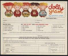 POUPEE - ANNIVERSAIRE - FETES - JOUETS  ETC / 1968 USA TELEGRAMME DE LUXE ILLUSTRE (ref WU10) - Dolls