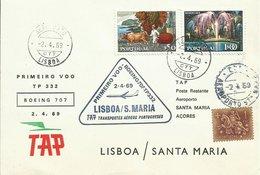 PORTUGAL, SOBRE CONMEMORATIVO PRIMER VUELO LISBOA/SANTA MARIA - 1910-... República