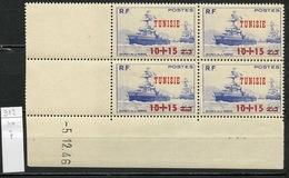 Tunisie - Tunesien - Tunisia 1947 Y&T N°312 - Michel N°332 *** - 10+15s2f+3f œuvre De La Marine - Coin Daté - Tunisie (1888-1955)