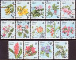 SOLOMON ISLANDS 1987 SG #580//97 Part Set (14 Stamps Of 18) Used Flowers - Solomon Islands (1978-...)