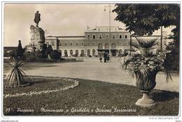 PIACENZA:  MONUMENTO  A  GARIBALDI  E  STAZIONE  FERROVIARIA  -  FOTO  -  FP - Stazioni Senza Treni