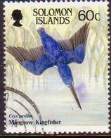 SOLOMON ISLANDS 1987 SG #599 60c Used Kingfisher Diving - Salomon (Iles 1978-...)