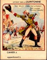 Protège Cahier - QUINTONINE - Nos Belles Chansons De France - Bon Voyage Monsieur Dumollet ! - Produits Pharmaceutiques