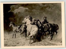 53045322 - Sign. Roloff, Alfred Pferde Im Gewittersturm HDK 109 PH - Arts