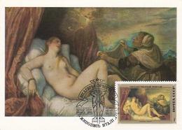 Carte Maximum Peinture Russie 1982 Titian  Titiano - 1923-1991 USSR