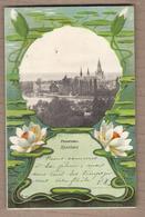CPA ALLEMAGNE - KONSTANZ - Panorama GRUSS - Très Jolie Vue Ville Dans Médaillon FLEUR NENUPHAR Art Nouveau 1901 - Konstanz