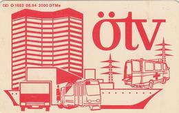 T329 - Germany, Phonecard, O 1682, 08.94, ÖTV Essen, 6 DM, Used, 2 Scans - O-Series: Kundenserie Vom Sammlerservice Ausgeschlossen