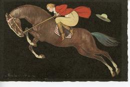 1479. CPA ITALIE ILLUSTRATEUR COLOMBO. CAVALIERE EN PLEIN ELAN - Colombo, E.