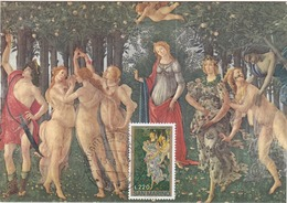 Carte Maximum Peinture Saint-Marin San Marino 1972 Botticelli - FDC