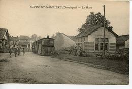 1481. CPA 24 ST-FRONT-LA-RIVIERE. LA GARE. TRAIN - Otros Municipios