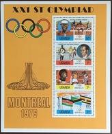 Uganda 1976 Olympic Games Minisheet MNH - Uganda (1962-...)