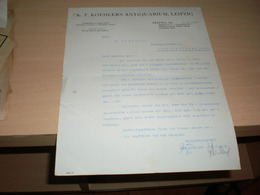 K F Koehlers Antiquarium Leipzig 1929 - Allemagne