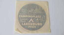 Autocollant Ancien Camping Laxenburg Autriche Pour Pare-brise 9 Cm Diamètre - Stickers