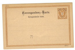 """Österreich, Ca.1900, Ungebr. """"Correspondenz-Karte - Korespondencni Listek"""" Mit Eingedr. Frankatur 2kr. (10009W) - 1850-1918 Empire"""