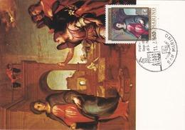 Carte Maximum Peinture Saint-Marin San Marino 1980 Andrea Del Sarto - FDC