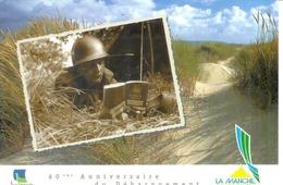 Cpm  14 UTAH BEACH * 60° ANNIVERSAIRE DU DEBARQUEMENT * SOLDAT EDMONDSON AVEC LE MANUEL DU SOLDAT - Guerra 1939-45