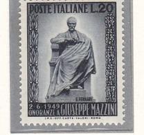 1949 Serie Giuseppe Mazzini Nuova - 1946-.. République