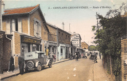 78-CONFLANS-CHENNEVIERES- ROUTE D'HERBLAY ( POSTE) - France