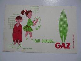 VIEUX PAPIERS - BUVARD : Eau Chaude ...GAZ - Electricité & Gaz