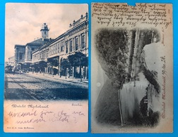 Lot 2 CP Udvozlet Miskolczrol  1903 Ans1899 Szinhaz ; Hamori To - Hongrie
