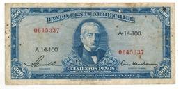 Chile 500 Pesos = 50 Condores, P-115. Crisp F. - Chili