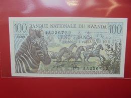 RWANDA 100 FRANCS 1-1-1978 PEU CIRCULER TRES BELLE QUALITE ! - Ruanda