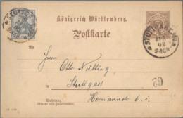 1902 STUTTGART 3 Pfg GS M. Zufr. - Ganzsachen