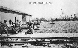 3560 Cpa Grèce - Salonique, Le Port - Grecia