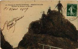 CPA Environs De St-ÉTIENNE - ROCHETAILLÉE - Escalade Des Rochers .. (294133) - Rochetaillee