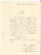 Facture - Vieux Papier -  1935 - Bernard Michel Notaire à Isches  - Vosges  - 88 - Francia