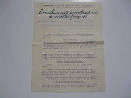 VIEUX PAPIERS - SEINE ET OISE - AUFFARGIS : Domaine Des Vaulx De Cernay - Propriété De M. Le Baron De Rothschild - Advertising