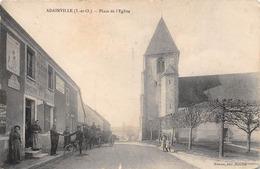 78-ADAINVILLE- PLACE DE L'EGLISE ( VOIR CAFE EPICERIE ) - France